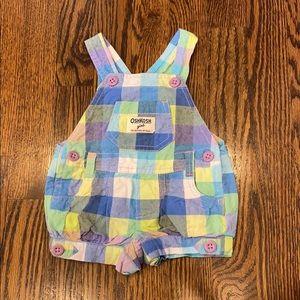Other - Oshkosh Girls Coveralls Shorts w/snaps Sz 6 months